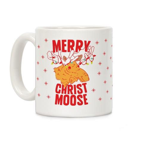 Merry Christ-Moose Coffee Mug
