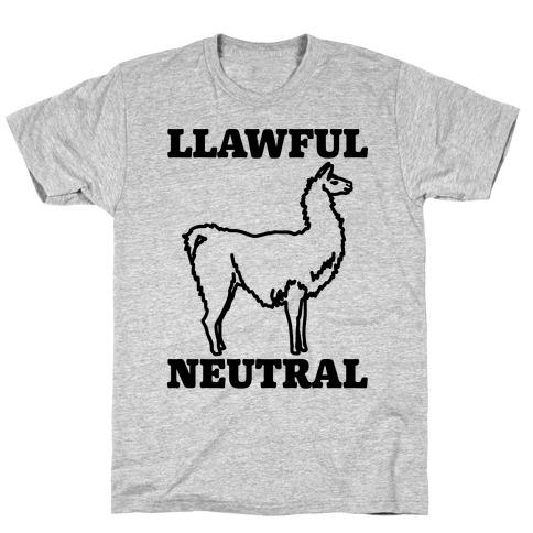 Llawful Neutral Llama Parody T-Shirt