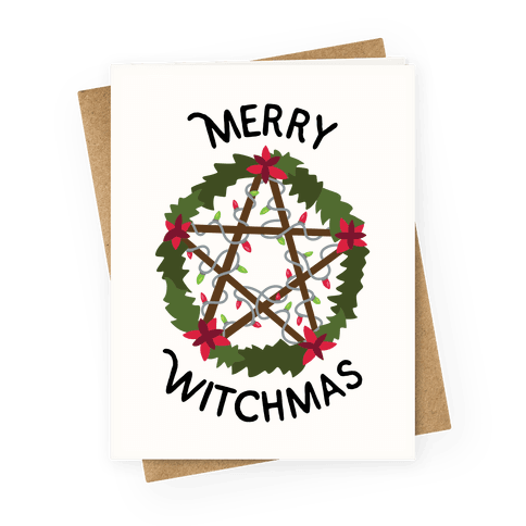 Merry Witchmas Greeting Card