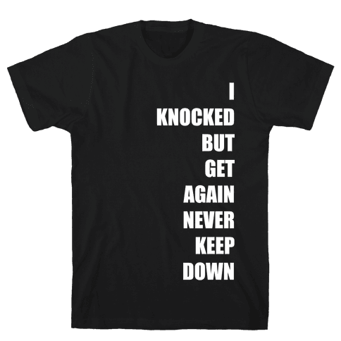 I Get Knocked Down Pair 1 White Print