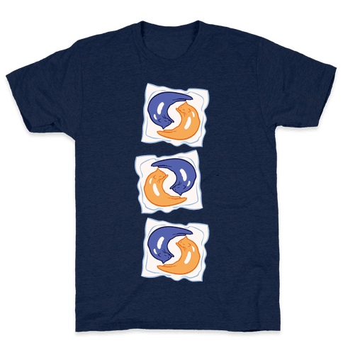 Tide Pod Cats Parody White Print Mens T-Shirt