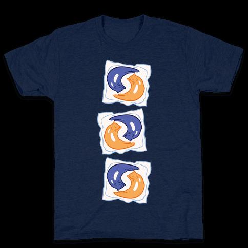 Tide Pod Cats Parody White Print Mens T-Shirt