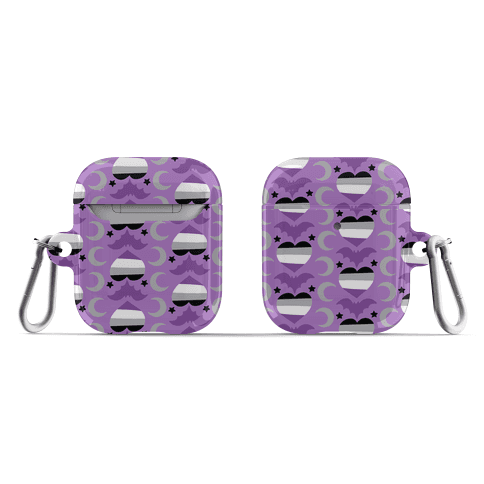 Spooky Asexual Pattern AirPod Case