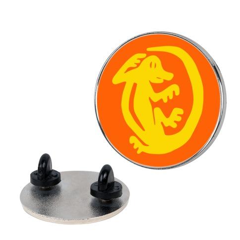 Orange Iguanas Pin