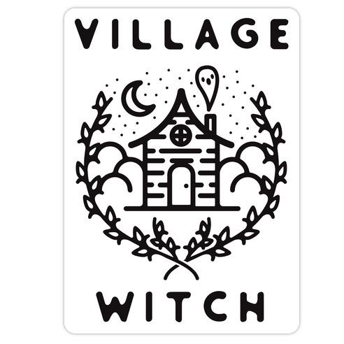 Village Witch Die Cut Sticker