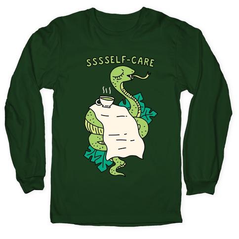 Sssself-Care Snake Long Sleeve T-Shirt