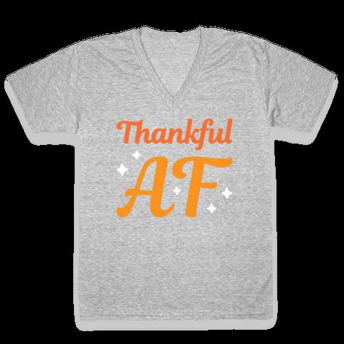 Thankful AF V-Neck Tee Shirt