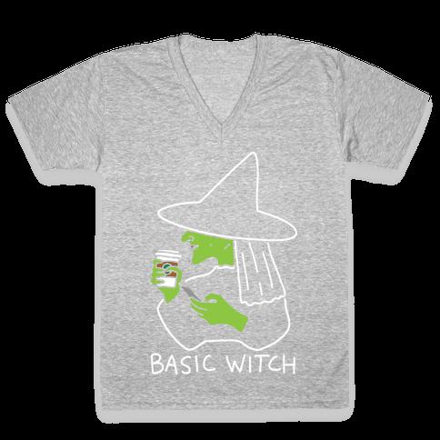 Basic Witch V-Neck Tee Shirt