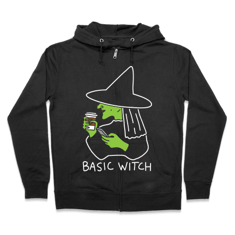 Basic Witch Zip Hoodie