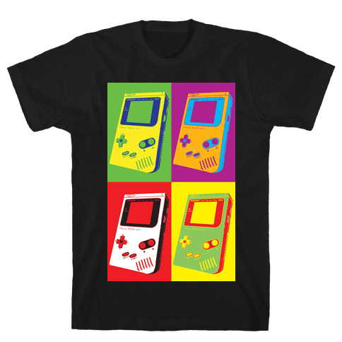 Gameboy Pop Art Pattern Mens/Unisex T-Shirt