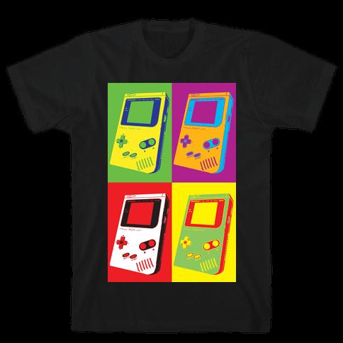 Gameboy Pop Art Pattern Mens/Unisex T-Shirt