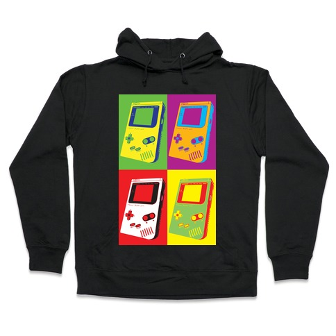 Gameboy Pop Art Pattern Hooded Sweatshirt