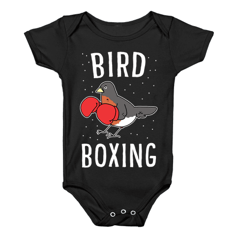 Bird Boxing Baby Onesy