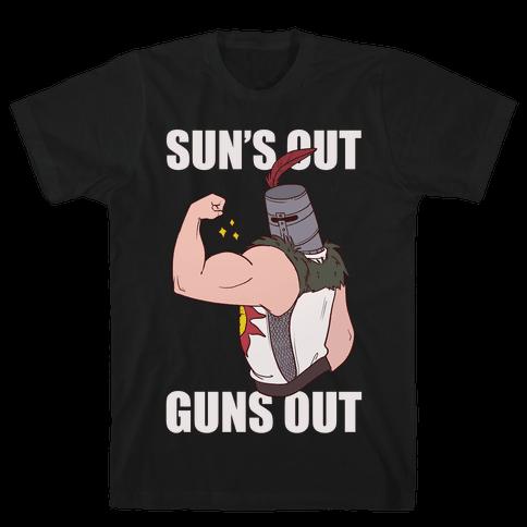 Sun's Out, Guns Out - Solaire  Mens T-Shirt