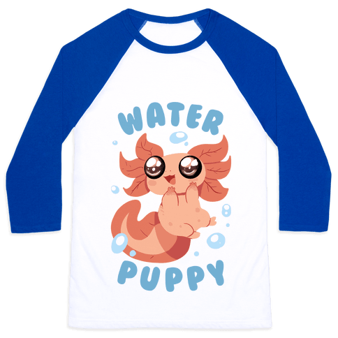 Water Puppy Axolotl Baseball Tee