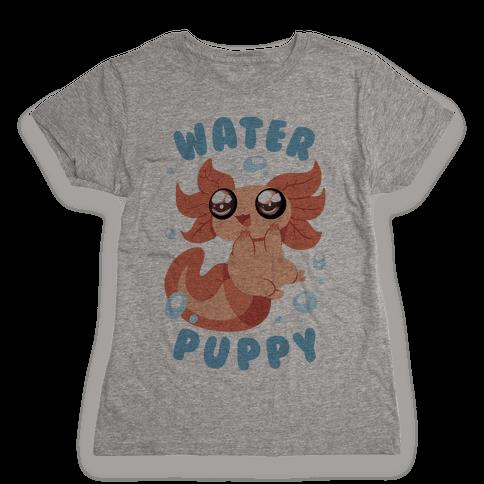 Water Puppy Axolotl Womens T-Shirt
