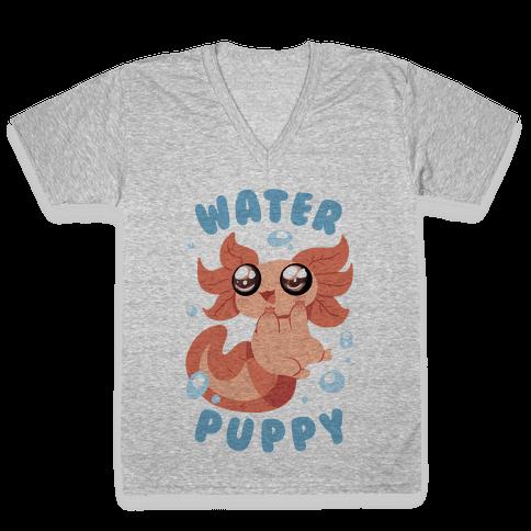 Water Puppy Axolotl V-Neck Tee Shirt