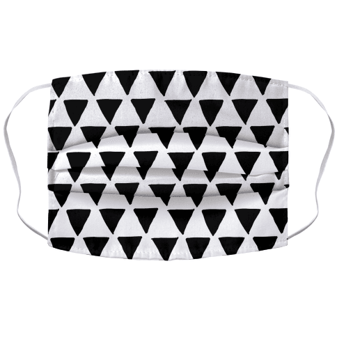 Triangle Pattern Face Mask Cover