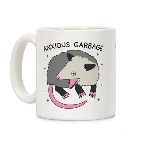 Anxious Garbage Opossum Coffee Mug