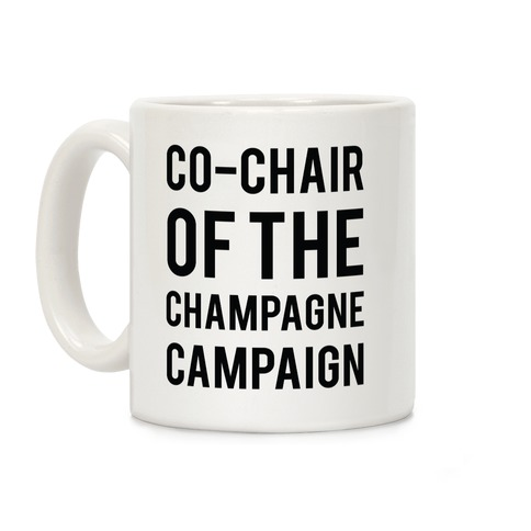 Champagne Campaign Black Coffee Mug