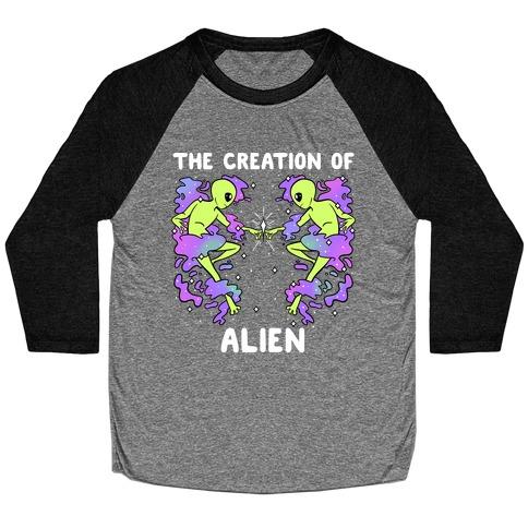 The Creation Of Alien Baseball Tee