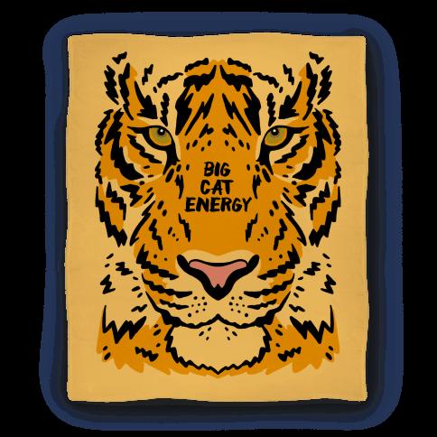 Big Cat Energy Tiger Blanket
