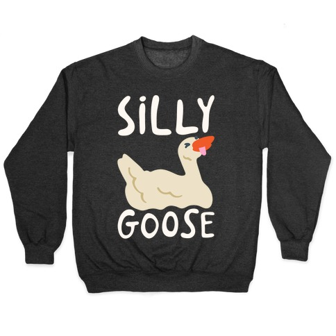 Silly Goose White Print Pullover