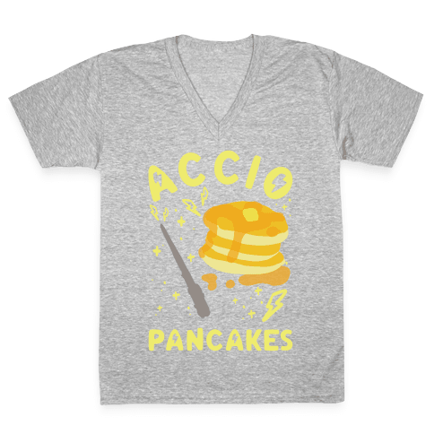Accio Pancakes V-Neck Tee Shirt