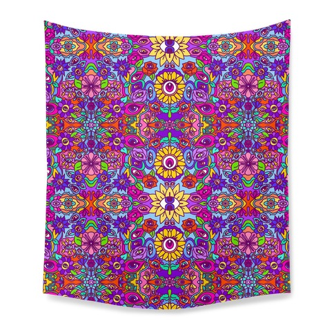 The Flowers Have Eyes Tapestry