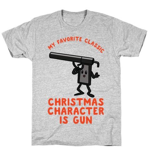 My Favorite Class Christmas Character is Gun T-Shirt