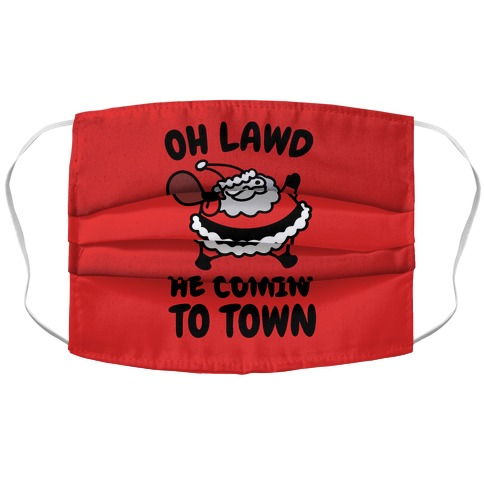 Oh Lawd He Comin' To Town Santa Parody Accordion Face Mask