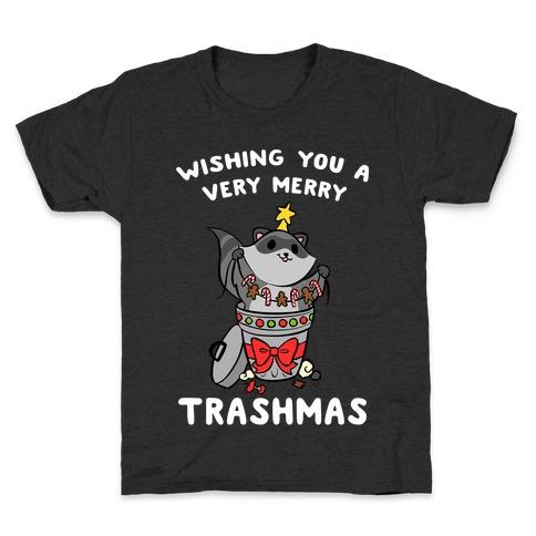 Wishing You A Very Merry Trashmas Kids T-Shirt
