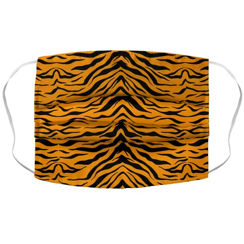 Tiger Stripe Pattern Accordion Face Mask