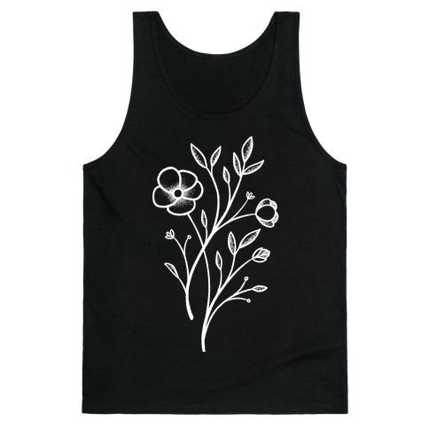 Wildflower Stippled Tattoo Tank Top