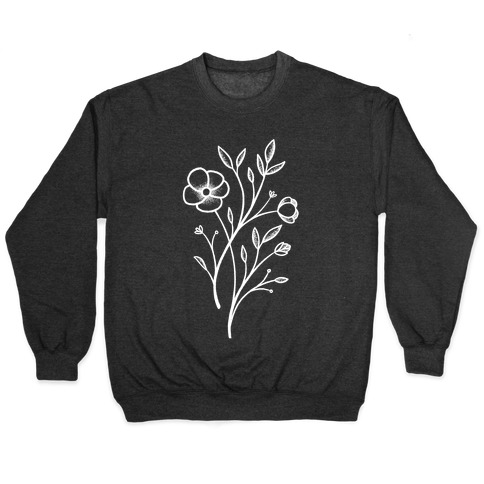Wildflower Stippled Tattoo Pullover