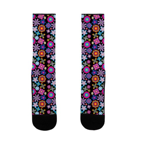 Hippie Pride Flower Pattern Sock