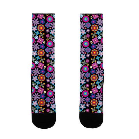 Hippie Pride Flower Pattern Sock