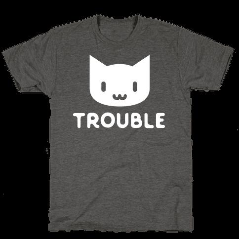 Trouble Cat White
