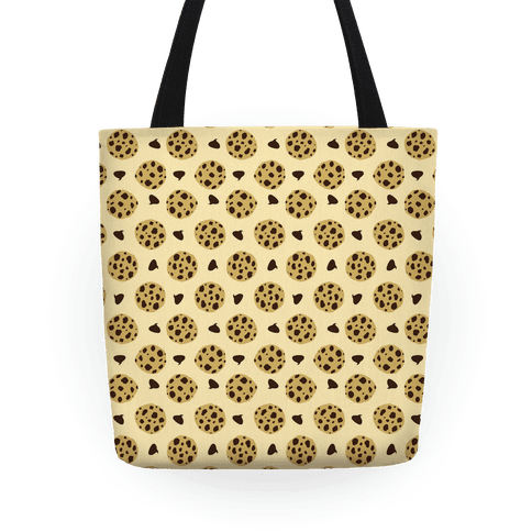 Chocolate Chip Cookies Pattern Tote