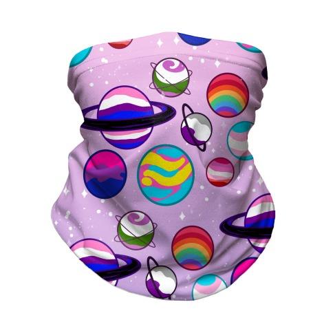 LGBTQ+ Planets Pastel Neck Gaiter