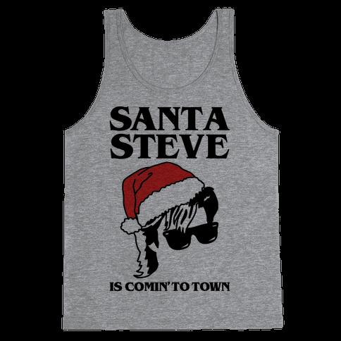 Santa Steve Parody Tank Top