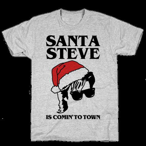 Santa Steve Parody Mens T-Shirt