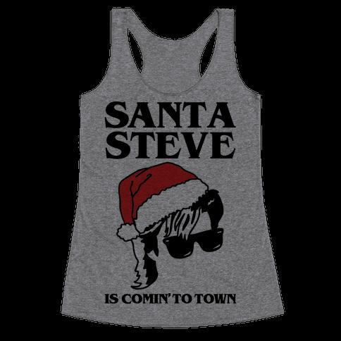Santa Steve Parody Racerback Tank Top