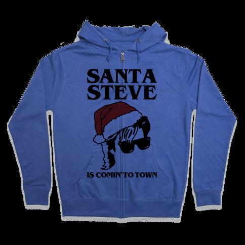 Santa Steve Parody Zip Hoodie