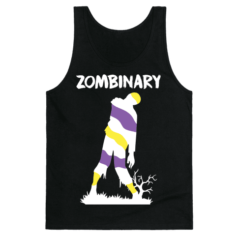 Zombinary Nonbinary Zombie Tank Top