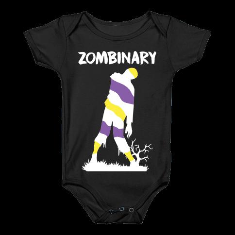 Zombinary Nonbinary Zombie Baby Onesy