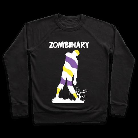 Zombinary Nonbinary Zombie Pullover