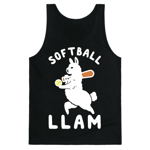 Softball Llam Tank Top