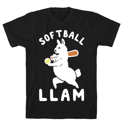 Softball Llam Mens T-Shirt