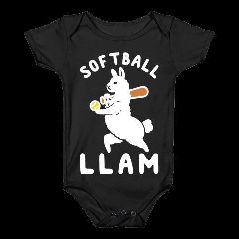 Softball Llam Baby Onesy